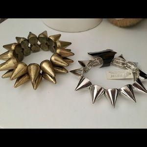 2 New spike bracelets a Gold&silver .